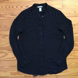 H&M Sheer Black